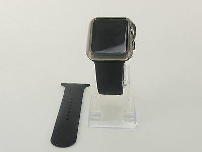 Black Sports Band Silicon Replacement Strap For Apple Watch 38MM