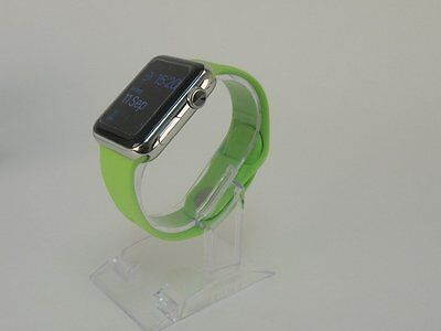 Green Apple Watch 42mm Replacement Silicone Wrist Bracelet Sport Band Strap