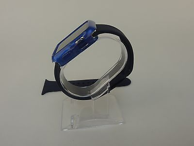 Blue Sports Band Silicon Replacement Strap For Apple Watch 38MM