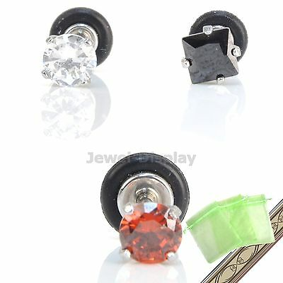 Square Strass Lip Ear Nose Rings Bars Body Piercing Earring JB109