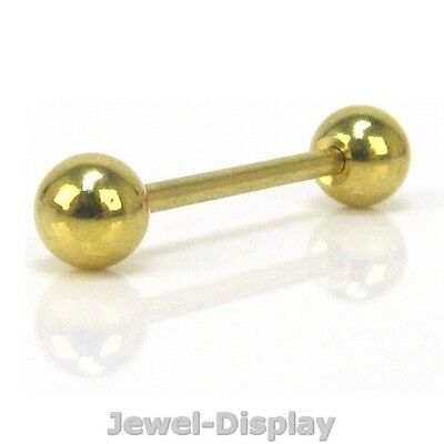 26mm Gold Tone Ball Straight Barbell Eyebrow Piercing Body Accessory #129