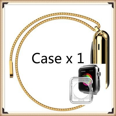 Gold Stainless For Apple Watch Mesh Metal Band Strap+ Adapter For 42mm