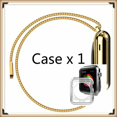 Gold Stainless Steel iWatch Mesh Metal Band Strap+ Adapter For Apple Watch 42mm