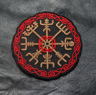 Viking Compass Odin Vegvisir 3.5 Inch  Tactical Morale Hook Patch By Miltacusa