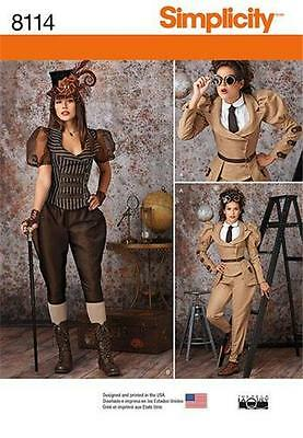 Simplicity SEWING PATTERN 8114 Misses Steampunk Costumes 6-14 Or 14-22