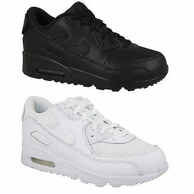 0e34bad5b1 Nike Air Max 90 Leather Kids Trainers Boys Girls Kid Children Sports School  Shoe