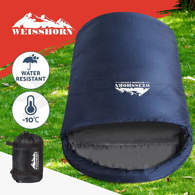 WEISSHORN Camping Envelope Double Sleeping Bag -10°C Thermal Hiking Grey 145CM