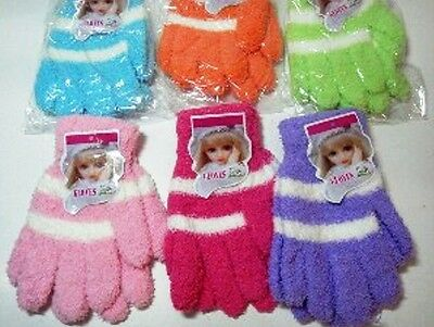 Fuzzy Striped Childrens Magic Gloves * Great Colors*your Choice, Great Quality