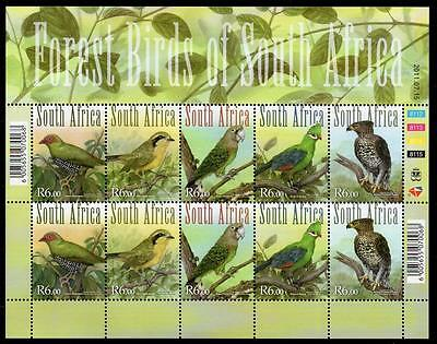 South Africa 2011 Mnh Forest Birds Of South Africa Sheetlet