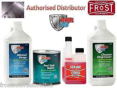 POR15 Petrol Tank Sealer Kit /w Fuel Stabiliser Rust Ethanol Protection POR 15