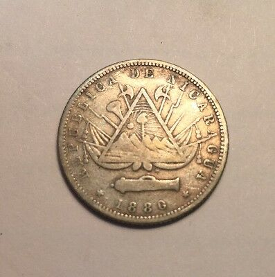 Nicaragua 20 Cent *VF* 1 Year Type 1880