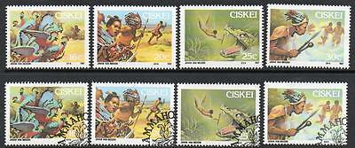 Ciskei 1987 Mnh & Used/cto Folklore Sets
