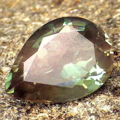GREEN DICHROIC SCHILLER OREGON SUNSTONE 2.44Ct FLAWLESS-FOR TOP JEWELRY!!