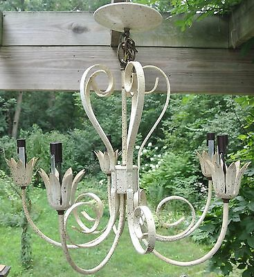 Vintage Ceiling Metal 4 Light Chandelier