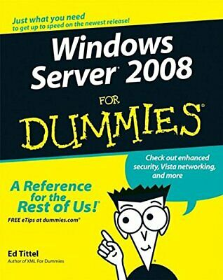 Windows Server 2008 For Dummies by Korelc, Justin Paperback Book The Cheap Fast