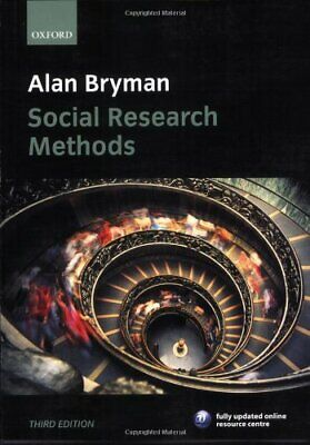 Social Research Methods, Bryman, Alan Paperback Book The Cheap Fast Free Post