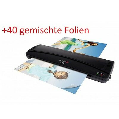 OLYMPIA A 330 Laminating machine DIN A3, black inclusive 40 mixed Films