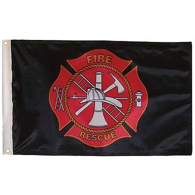 3' x 5' Fire Rescue Firefighter Heavy Duty Flag with grommets