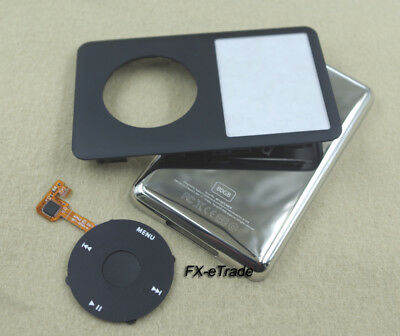 Black Faceplate Housing Case Black Clickwheel Button for iPod 6th Classic 80GB