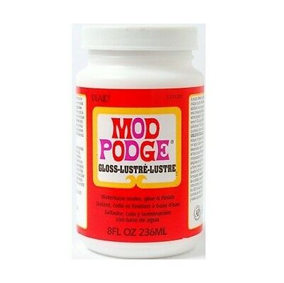8oz MOD PODGE GLOSS FINISH GLUE SEALER FOR DECOUPAGE MODELLING CRAFT NON TOXIC