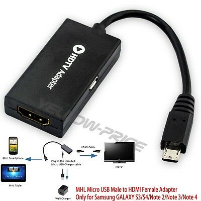 Micro USB (MHL 11Pin) to HDMI Adapter for Samsung Galaxy S3/S4 and Note 2/Note 3