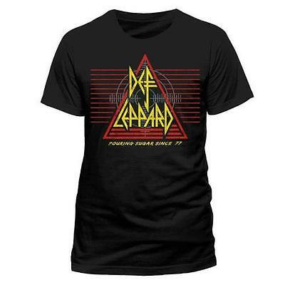 Def Leppard - Pouring Sugar Since 77 Short Sleeve Cotton T-Shirt New & Official