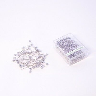 6mm Round Pearl Headed Wedding Floristy  Pins x 144 - Silver