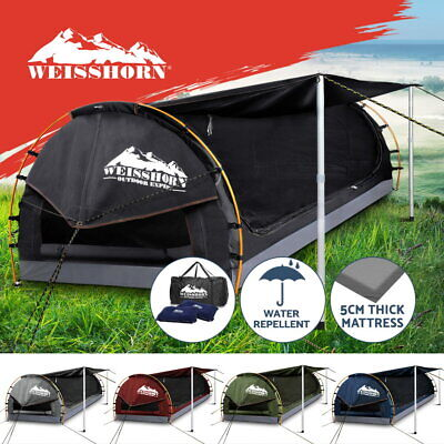 Weisshorn Double King Single Camping Swags Canvas Free Standing Dome Tent Bag