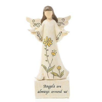 Angels Are Always Around Us... Message Statue Figurine Ornament 16cm New Boxed