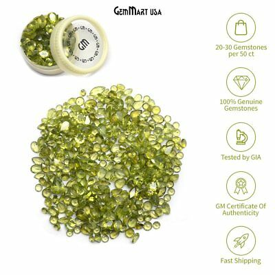 Wholesale 100+ Carats Mix Peridot Loose Faceted Stones Semi-Precious Lot SALE