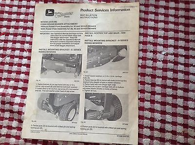 Installation Instructions for John Deere 2-bag Grass Bagger Attachment M75590