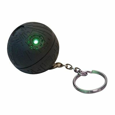 Official Star Wars Death Star LED Green Glowing Torch Ligh Up Keychain Keyring