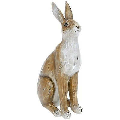 Rustic Country Brown Effect Hare - Rabbit Sculpture Ornament Figurine