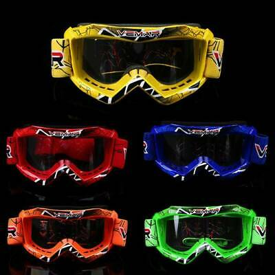 Youth Kid's ATV MX Motocross Offroad Riding Goggles Glasses 6-15 Years Old