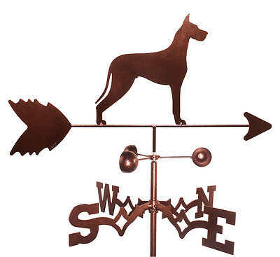 Great Dane  Weathervane With Garden Mounting