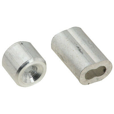 National Hardware N283-846 V3231 Ferrules and Stops, Aluminum, 1/16""