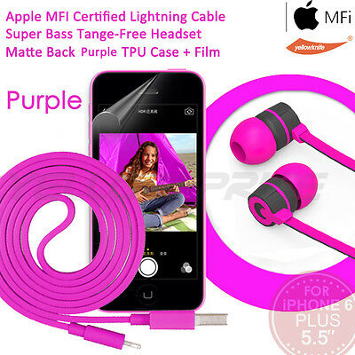 4-in-1 For iPhone 6 6S Plus Charger, Apple Lightning Cable Headphone Mic Case Fi