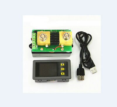 DC Wireless DC Voltmeter Ammeter Power Meter Capacity Coulomb Counter 120V 300A