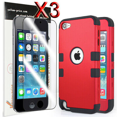 For iPod Touch 6th 5th 6 Gen. Hybrid Silicon Hard Case Armor Cover Triple Layers