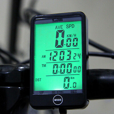 Multifunction Wireless Bike Bicycle Cycling LCD Computer Odometer Speedometer