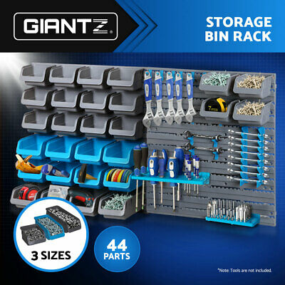 NEW Wall-Mounted Storage Bin Rack Tool Parts Garage Unit Shelving Organiser box