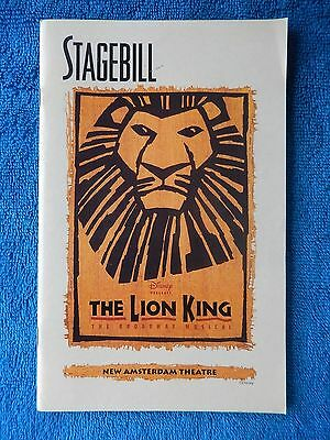 The Lion King - New Amsterdam Theatre Playbill w/Ticket - February 17th, 1999