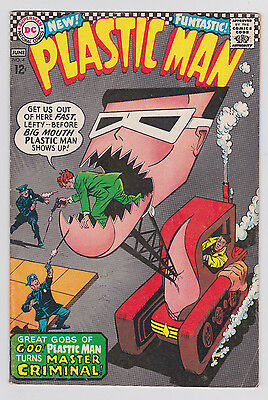 Plastic Man #4 DC Comics 1967 6.5 FN+ to 7.0 FN/VF Plas turns Master Criminal