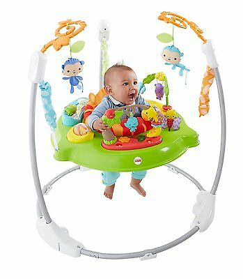 Fisher Price Roarin' Rainforest Colorful Spinning Jumperoo Entertainer | CBV63