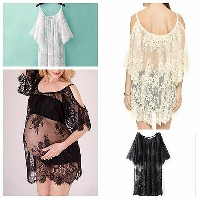 Maternity Lace Dress Beach Dresses Pregnant Photography Props Sexy Nightdress