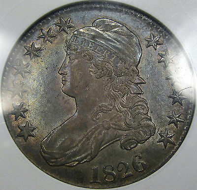1826 O-104 Capped Bust Half Dollar ANACS AU-50... Very NICE and 100% Original!!