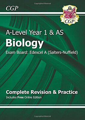 A-Level Biology: Edexcel A Year 1 & AS Complete Revision & Pract... by CGP Books
