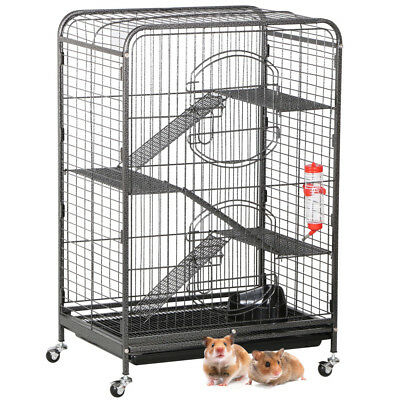 New Animal Habitat Cage w/Stand and Feeder Ferret Chinchilla Small Animals House