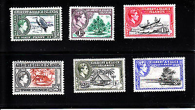 Gilbert & Ellice Islands Sc 40-51 Mint MNH hinged Pictorials