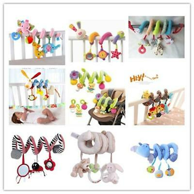 Kids Baby Crib Cot Pram Hanging Spiral Toys Soft Developmental Toy Gift - CB